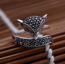 H01 Ring Fuchs aus Sterling Silber 925 mit Markasit