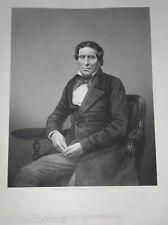 John Copley, Lord Lyndhurst: c1860 Original antiquaire PORTRAIT GRAVURE