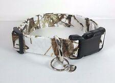Snow White True Timber MC2 Camo Terris Dog Collar custom made adjustable hunting