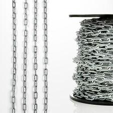 Meterware Stahlkette Eisenkette verzinkt kurzgliedrig langgliedrig 2-10mm Stahl
