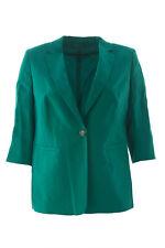 MARINA RINALDI Women's Emerald Green Corinto Linen Blazer $430 NWT
