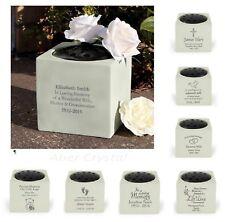 Personalised Memorial Vase Grave Side Remembrance Flower Rose Bowl Ornament