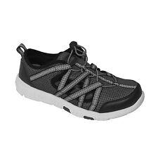 NEW Mens Rocsoc Water Walking Train Sport Casual Shoe Speed Lace 9695 Black Grey