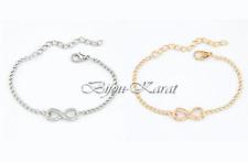 Infinity Armband Blogger Eternity Unendlichkeit Ewig Gold oder Silber Armkette