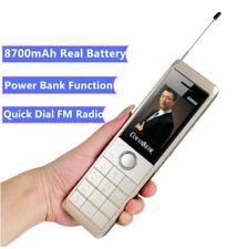 Super Big D9000 Luxury Retro Telephone Power Bank 8700mAh Long Standby Phone