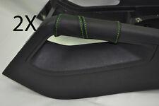 Verde Stitch encaja Vw Golf V Mk5 V Jetta 04-09 2x Centro Consola triángulo cubre