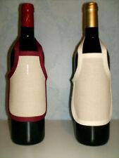 Tablier de bouteille toile aida 7 écru à broder au point de croix au choix