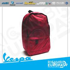 Zaino urban borsa in tessuto Vespa Originale ROSSO in morbido con zip