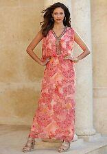 DENIM 24/7 Bead Embellished Paisley Caftan Maxi Dress 16W 18W 20W 22W 24W