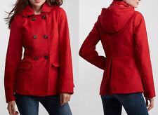 NWT AEROPOSTALE Aero Women Juniors Hooded Pea Coat Jacket Sizes S and XXL