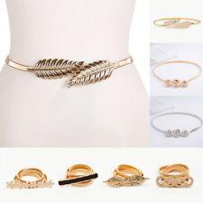 Flower leaf shape Wedding Elastic belts women girl Stretch Skinny Waist Belt