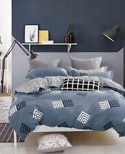 Stripe 100% Cotton Bedding Set: 1 Duvet Cover 2 Pillow Shams  Queen/King/Cal K