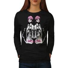Asian Mystic Girl Fantasy Women Long Sleeve T-shirt NEW | Wellcoda