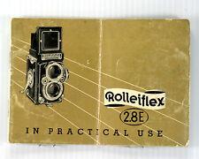 Original Rolleiflex 2.8 E Instruction Manual - in English, printed March 1957