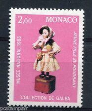 MONACO 1983, timbre 1384, ART, AUTOMATES du 19° SIECLE, JEUNE FILLE, neuf**