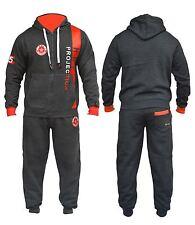 Mens Boys Fleece HNL Projection Hooded Zipped Pyjama Top Set Jogging Tracksuit