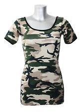 Army Camo Camouflage Long TShirt Top Tee Fancy Dress 6-10
