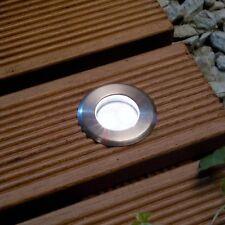 Techmar Astrum 12v Stainless Steel Garden Deck Light - White LED - 0.3w