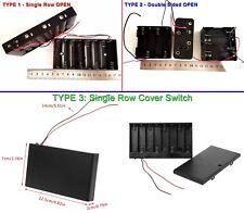 1 PC - 3 TYPES 12V (8*1.5V) AA Battery Holder for 12VDC LED Strips & Devices