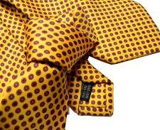CRAVATTA gialla SETA STAMPATA UOMO CRAVATTE GIALLE giallo ocra disegni bordeaux