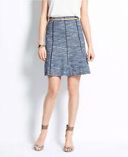 Ann Taylor Tweed Sky Skirt Size 4 Petite NWT Ocean Blue Multi Color