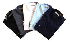 BURBERRY camicia manica lunga uomo cambridge bianco azzurro navy nero grigio