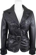 UNICORN Femmes mode en cuir Veste fabriqué avec Noir toucher doux en cuir #EG