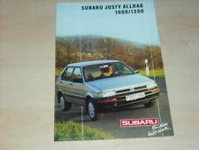 34419) Subaru Justy 1200 AWD Prospekt 1989