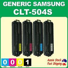 4x Generic CLT-504S 504S Toners for Samsung SLC1810W SL-C1860FW CLX4170 CLX4195