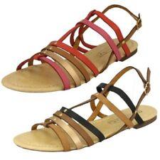 Ladies Posto Sul Piatto con Spalline' Sandali con Cinturino Alla Caviglia'