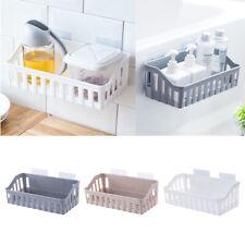 Kitchen Bathroom Storage Shower Rack Shelf Organiser Basket Self Adhesive