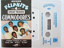 COMMODORES FLIP HITS 4 TRACK EP RARE ORIGINAL UK RELEASE CASSETTE TAPE
