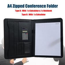 A4 Schreibmappe Dokumenten Konferenz Mappe Portfolio Rechner Notizbuch 2 Typen