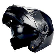 1STorm Commander Motorcycle Full Face Helmet Modular Flip up Sun Visor dual Lens