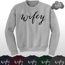 Wifey FELPA DONNA DONNA DONNA SLOGAN ragazzo' Wifey ' Ain't No maglione