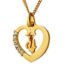 Plaqué Or Collier Pendentif Coeur Avec Lettre - Y - Bijoux Cadeaux Pour Femmes