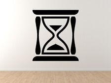 Hour Glass Shape- Sand Glass Time Keeper Silhouette - Vinyl Wall Decal Art