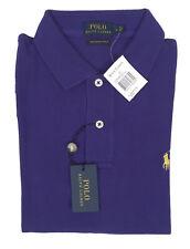 NEW Polo Ralph Lauren Womens The Skinny Polo Shirt!  Purpleish Royal Blue  Mesh