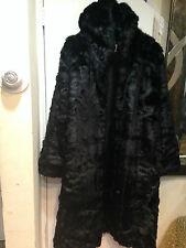Women's outwear Winter Cold heavy Washable Faux Fur hooded long Coat plus 3X 4X