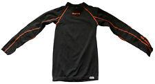 ERREA black/orange shirt with padding maglia maniche lunghe con imbottitura