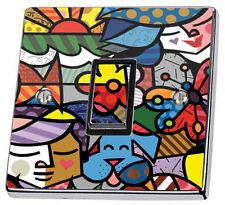 Decoración De Arte Abstracto Interruptor de Luz de pared de diseño y alimentación Enchufe Cubierta Pegatina De Vinilo