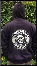 Crâne Sweat à capuche, ZIP complet, violet foncé. Voodoo Street Design Original; Skate, bmx