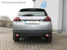 Duplex Sportauspuff Peugeot 2008 je 145x65mm trapezförmig abgeschrägt