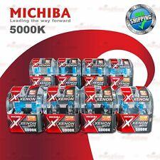 MICHIBA 12V 5000K Xenon Super WHITE Diamond Vision Halogen Headlight Bulbs 2 PCS