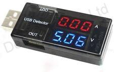USB Cargador De Corriente Tensión Probador de carga médico Batería Voltímetro Amperímetro UK