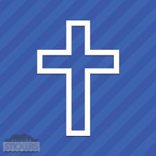 Religious Cross Square Vinyl Decal Sticker Religion Christian Christianity