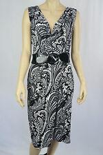 Crossroads Ladies Sleeveless Cowl Neck Dress sizes 8 10 14 16 Colour Black White