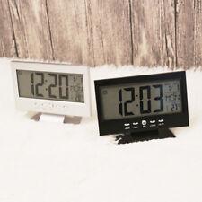 Horloge électronique de table de bureau numérique LCD Snooze réveil chevet LED