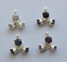 Granat, Amethyst, Iolith oder Cubic Zirkonia Schmuck Set in 925er Silber, rund