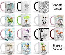 Monats Tasse Geschenktasse Spruch Kaffeetasse Geburtstagstasse  Sunnywall®